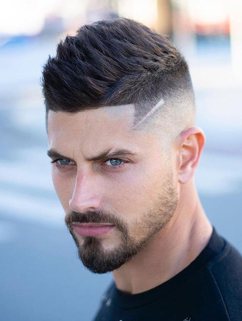 short sides long top haircut 10