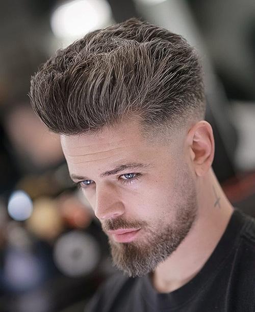 short sides long top haircut 24