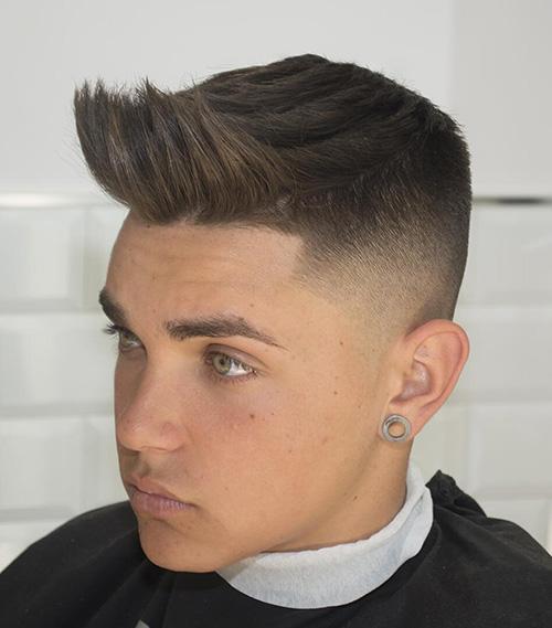 short sides long top haircut 25