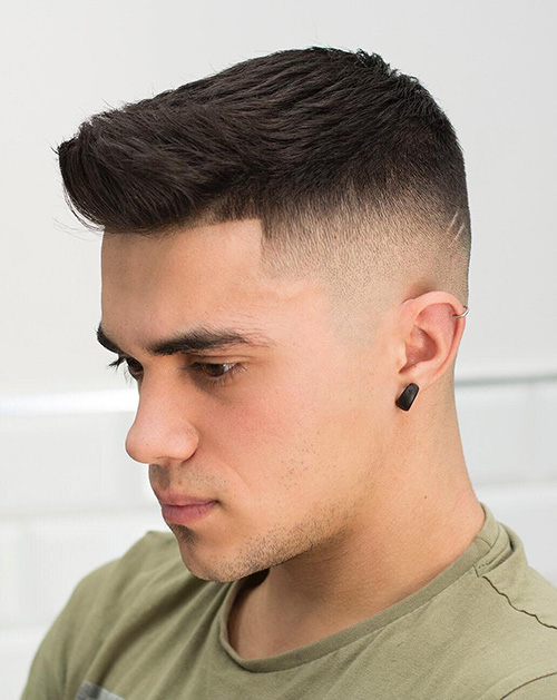 short sides long top haircut 28