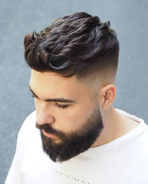 short sides long top haircut 34
