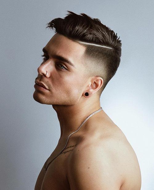 short sides long top haircut 39