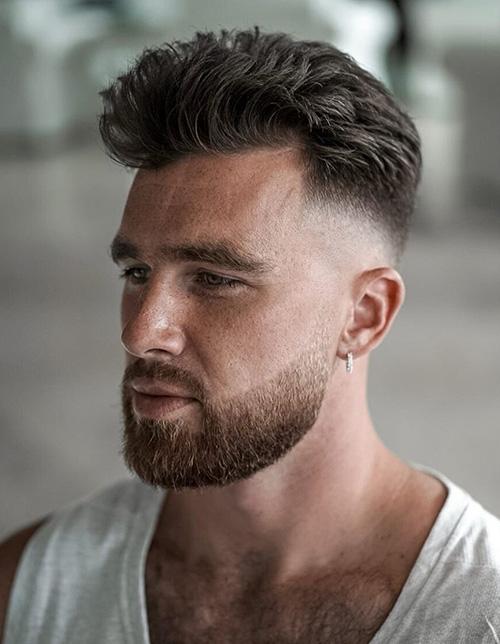 short sides long top haircut 41