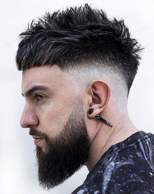 short sides long top haircut 43