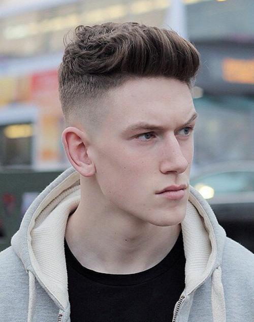 short sides long top haircut 45