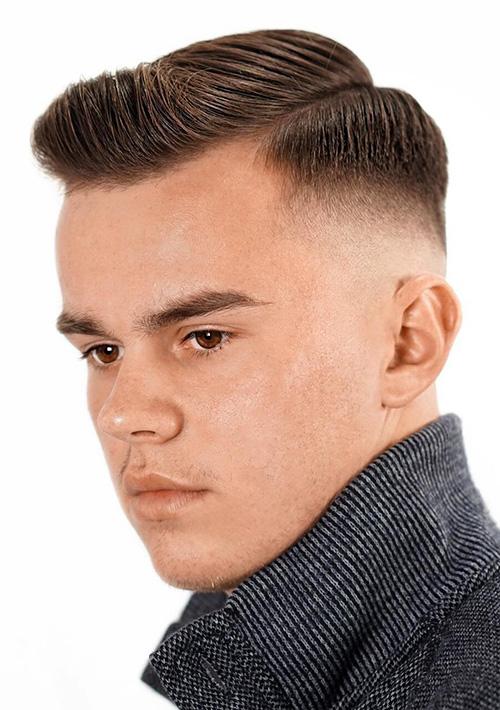 short sides long top haircut 58