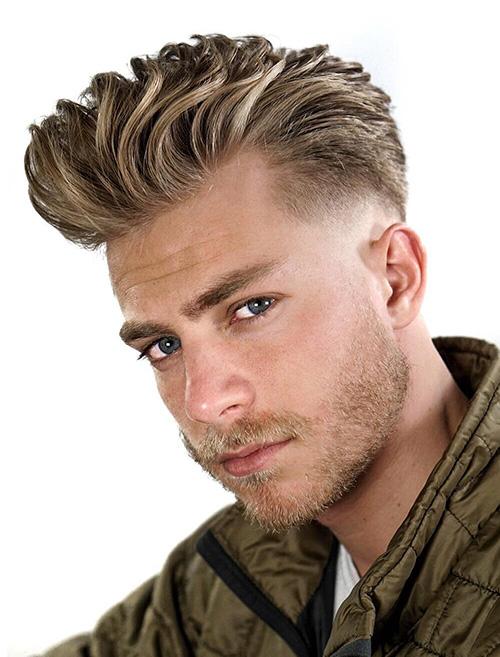 short sides long top haircut 60