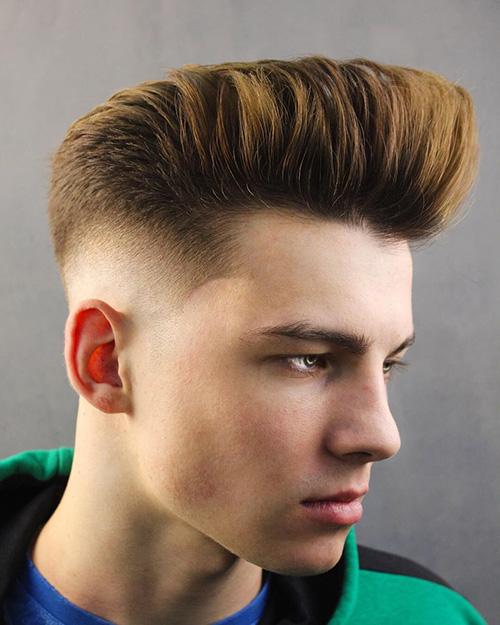 short sides long top haircut 64