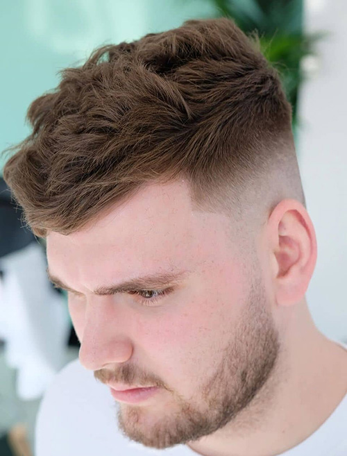 haircuts for men with round faces 68