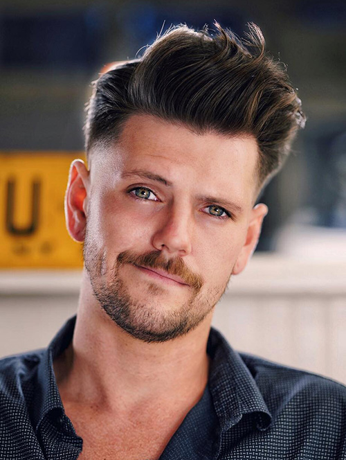 haircuts for men with round faces 89