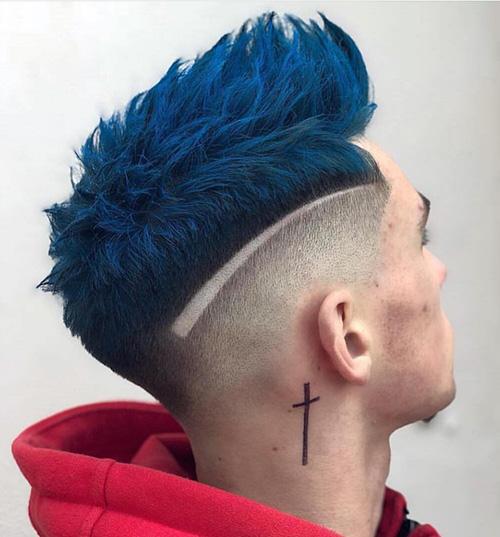 mohawk fade haircut 46