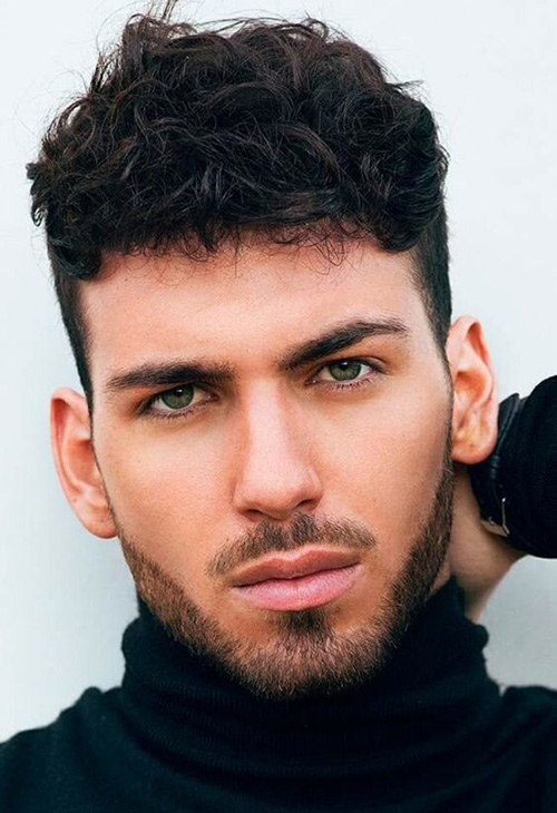 perm hairstyles for men 25